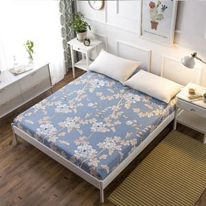 Funda de cama mtuove Funda de colchón de una pieza fundas de cama de dibujos animados 1.5m1.8m2.0 Paño blanco puro antideslizante sábanas a prueba de polvo