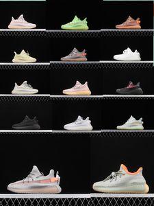 Kanye West 3M reflectante bebés Yecheil niños de los zapatos corrientes Glow estático arcilla verde Baloncesto Formadores Pequeños Niño Niña niño de los niños