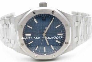 منتجات رجالية أفضل جودة السلسلة الكلاسيكية Royal 41mm 15500 OM Factory Blue Checkered Dial Markers Caliber 4302 Men Automatic Watch