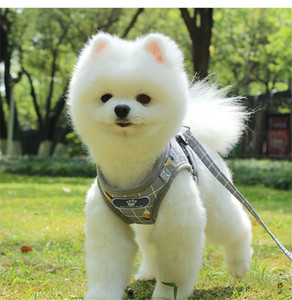 Reflective Light Dog Harnesses Leashes Set Safe Walk the Dog Harnesses Collars Dogs Clothes Pet Dog accessories Drop Ship