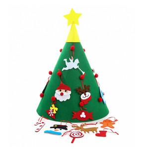 3D DIY는 장식품 어린이 크리스마스 선물 크리스마스 홈 장식 퍼즐 교육 장난감 JK1910 매달려 함께 크리스마스 트리를 펠트