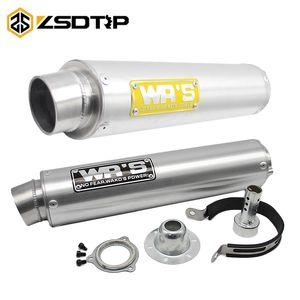 ZSDTRP moto Tubo di scarico per WRS universale del silenziatore di scarico per CB400 CBR250 CBR29 ZXR XJR400 VFR400 FZR400 Pit Bike