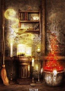 Vinil personalizado Fotografia Backdrops Prop digital impressa fundo Vertical Halloween dia Photo Studio JLT-9574