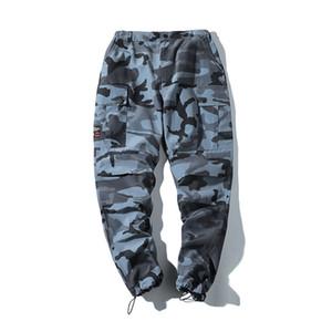 Mens Hip Hip Streetwear Camouflage Carga Joggers Calças Primavera Estilo Harem calças calças Casual Masculino