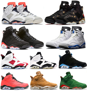 Meilleure Vente Noir Infrarouge nike air jordan 6 6 s Hommes Haute Coupe Chaussures de Basketball Homme UNC Infrarouge Blanc Sports Bleu Marron Olympic Designer Chaussures