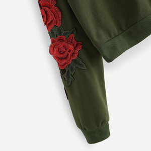 TELOTUNY 2019 New Fashion Hoodies For Girls Floral Embroidered Hooded Tops Women Sweatshirt Long Sleeve Winter Pullover Coat 814