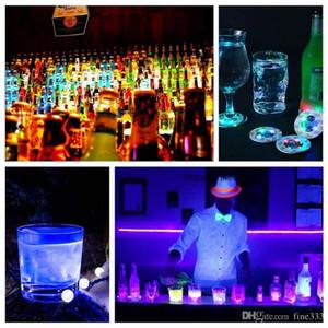 Flasche LED-Licht-Aufkleber LED Weinflasche Glorifier Mini-Licht LED-Coaster-Schalen-Matten-Party-Bar Club Glasvase Weihnachtsdekoration