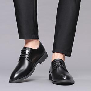 Chaussures de ville classique affaires Mode homme élégant Chaussures formelles de mariage Hommes Slip Shoes Bureau Oxford pour Hommes 2019 Nouveau