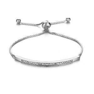 12pcs / lots europeu e americano Hot venda Moda Simples feminino pulseira ajustável Inlay Rhinestone jóias casal 3color C-51