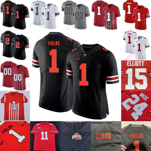 Custom Ohio State Buckeyes Football Jersey NCAA College Garrett Wilson Eddie George Justin Fields Chase Young J. K. Dobbins Women Youth Kid