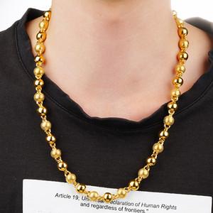 Helada de lujo de la cadena personalizada Dubai real 24K collar de oro para hombre Niños liso sólido 24K Gargantilla joyería de moda