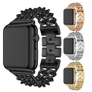 Correa, cadena Jean, banda rígida, correa de aleación de acero inoxidable y pulsera para Apple watch / iwatch watch watch Watch