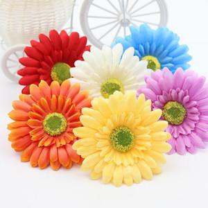 10PCS / Lot 10CM Gerbera Silk Blüte Sonnenblume Tulpe Kranz Pectoral Blume Hut Kleidung Schuhe Weihnachten Dekorative Materialien