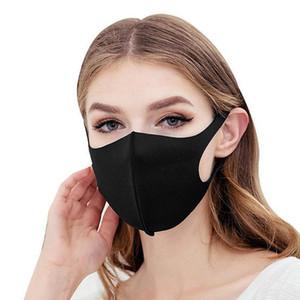 Negro Boca Máscara respirable unisex cara de la esponja reutilizable Prueba Anti polución careta viento Cúbrase la boca
