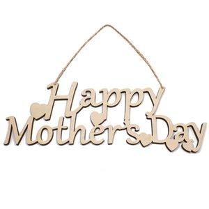 Grandes mães tamanho dia letras decorações de madeira natal monograma do feriado enfeites de árvore de pingentes de madeira maciça pendurado festa indoor