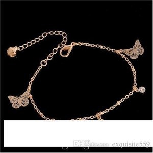 Sweet Simple Butterfly Shape Anklet Bracelet Chain Ankel Beach Foot Sandal Diomedes for Women Gift chaine cheville