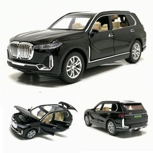 Vehículos 01:32 X7 alta de la simulación de la aleación Suv coche de juguete modelo de Coches Diecast X7 pull back campo a través por los niños juega el envío libre J190525