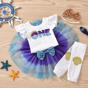 طفل الملابس الطفل لفتاة 18 شهرا كيد بنات عباد الشمس الصيف رومبير بلايز تول التنورة الأميرة مجموعة رومبير لحديثي الولادة