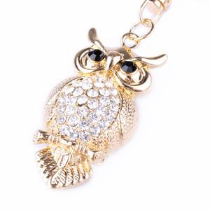 Borse Accessori Strass Crystal Butterfly Owl Peacock Keychain Car Ciondolo borsa Fashion Jewelry Pendant Decoration