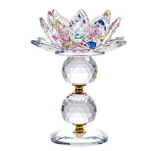 New-New Lotus Candlestick Decoration Feng Shui Home Decoration Accessories Holder Glass Fashion