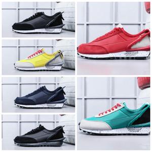 NIKE 2018 Yeni Tasarımcı UNDERCOVER x Waffle Racer Spor Koşu Ayakkabıları Yüksek kaliteli Erkek Eğitmenler için Siyah Sarı Mavi Rahat Sneakers Boyutu 36-45