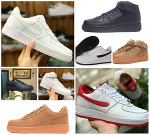 Дешевые 2020 NEW Design силы Мужчины НИЗКИЙ Скейтборд обувь One Unisex 1 Knit Euro Air High Женщины Все Белый Dunk Черный Красный Повседневная обувь