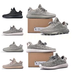 2019 nueva moda de diseño de lujo zapatos de mujer para hombre v1 Kanye West pirata negro Tortuga Dove Moonrock Oxford Tan Wave Runner corriendo sneakes