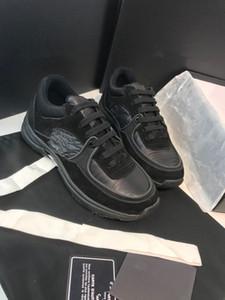 Piel del nuevo diseñador de moda de calzado Estación mujeres de lujo de los hombres de los zapatos de plataforma con cordones de las zapatillas de deporte de gran tamaño único Blanco Negro xy2019112007 informal