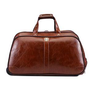 2018 Yeni Kadın İş PU Rolling Bagaj Arabası Bavul çanta Erkekler kaliteli Rolling Gezici Seyahat Bag Bavulu