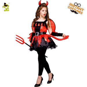 Costumes Robe diable Devil Costume Halloween Kids Party Fille Déguisements Pourim Party cosplay fille