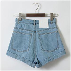 Ladies Shorts Plus Size Shorts taille haute en denim Shorts Femmes Vintage Jeans Sexy Denim Femme Feminino Slim Hip C3627