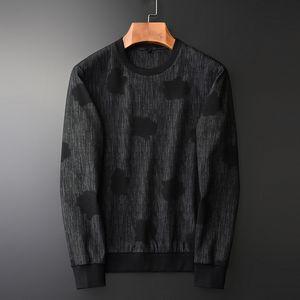Minglu Yarn Dyed Black Sweatshirt Male Luxury Spring Dark Fringe Round Collar Sweatshirts Men Plus Size 4xl Slim Mens Hoodies