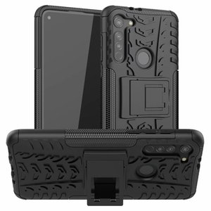 Enchanting Rugged Combo Sticker Hybrid Armor New Bracket Impact Holster Protective Cover Case For Motorola Moto G8