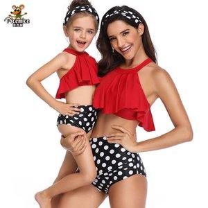 Women Kid Baby Girl Swimwear One-piece Bikini 2020 Summer Family Swimwear Mother And Daughter Swimsuit Bathing Suit