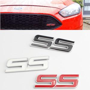 SS Harf Araba Metal Grille Bonnet Izgara Logo rozeti Amblem için Chevrolet Cruze Camaro Ford Focus, Fiesta F150 Expedition Explorer
