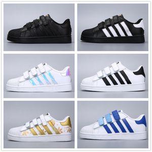 Adidas Superstar Smith Allstar 2018 Bambini di marca Scarpe superstar Original White Gold bambino bambini Superstars Sneakers Super Star ragazze ragazzi Sport bambini scarpe 24-35