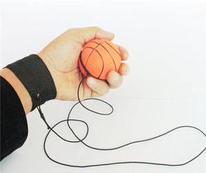 63 milímetros Jogando Reaction Bouncy Rubber Ball Wrist Band Bouncing Balls Crianças Elastic K726 Treinamento Anti-stress bolas escola ferramenta de ensino