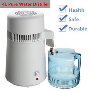 750W 4L Pure Water Distiller purificatore contenitore in acciaio inox acqua filtro di periferica domestica Acqua distillata