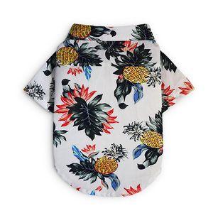 2019 Summer Pet Travel Shirt Beach Shirt Dog Cute Print Hawaii Beach Casual Pineapple Short Sleeve Small Dog Cat Blouse