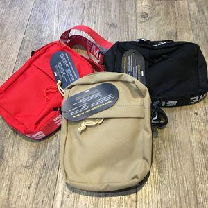 Sup 18ss bolsa de ombro 44 unisex fanny pack moda homens lona homens messenger bags bolsa de ombro com tag