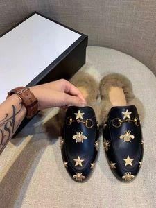 Mocassini Star pantofole Princetown Le Fu pantofole 2019ss nuovi capelli europei stanno davvero mezze pantofole di lana morsetto The Horsebit Scuffs