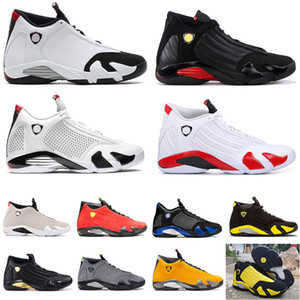 Hight Qualität air jordan retro 14 SPM x Weiß Mens-Basketballschuhe 14 LAST SHOT 2018 RELEASE Desert Sand 14s Donner Red Suede Männer sneakes Designer-Schuhe