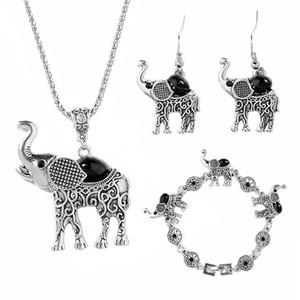 ziemlich Elephant Schmuck-Set für Frauen Retro Bohemian Chic Schmuck-Set Der kleinen Legierung Halskette Ohrringe Kragen Tierschmuckset