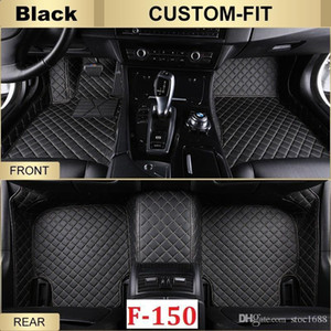 SCOT All Weather Leather Floor Mats for Ford F-150 4-Doors Waterproof Anti-slip 3D Front & Rear Carpet Custom-Fit Left-Hand-Driver-Model
