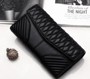 New season women Lady Multi-function long Wallets Genuine Leather Embroidery lining Card Holders Hasp Lady Simplicity High-capacity