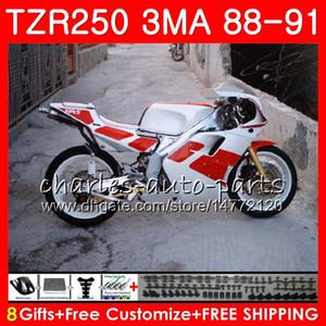 Body Para YAMAHA TZR250 3MA TZR-250 1988 1989 1990 1991 vermelho 118HM.50 TZR250 RS RR à venda branco YPVS TZR250RR TZR 250 88 89 90 91 Kit de carenagem