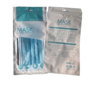 13*24.5 21*Sacos de 15cm para máscaras de rosto descartáveis, de protecção de 3 camadas, não tecidos, boca elástica descartável, de Higiene macia e respirável, Máscaras De Rosto De Segurança