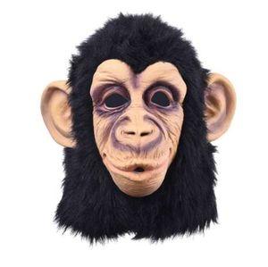 Komik Maymun Başkanı Lateks Maske Tam Yüz Yetişkin Maske Nefes Cadılar Bayramı Masquerade Fantezi Elbise