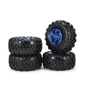 4PCS RC Monster Truck Llanta Neumáticos Kit para uno y diez Traxxas Tamiya HSP HPI Kyosho RC Camiones de coches, neumáticos de caucho Piezas