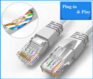 RJ45 كابل إيثرنت 1M 3M 5M 10M لالحبل CAT5E CAT5 شبكة الإنترنت تصحيح LAN كيبل للالحبل شبكة LAN PC الكمبيوتر